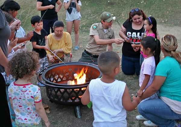 Marshmallow roasting at Marsh Park | Photo: Rubi Fregoso