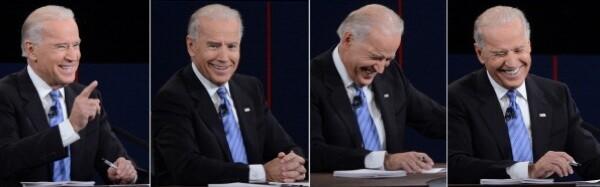 Some of U.S. Vice President Joe Biden's reactions during his vice presidential debate. | Photo: SAUL LOEB/AFP/GettyImages