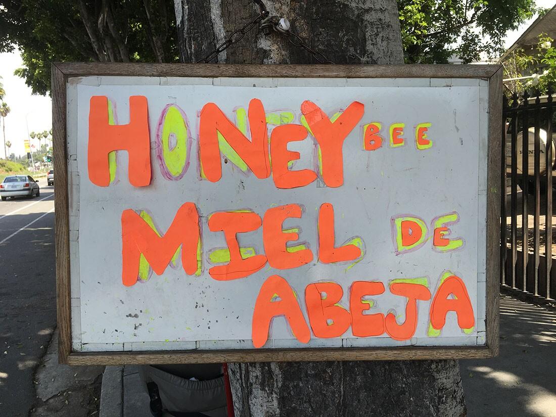 Honey Sign in El Sereno | Oliver Wang