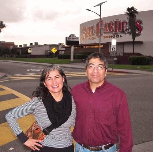 Vickie Vertiz and Stephen Gutierrez at Bell Gardens High School   Photo: Kenji Liu