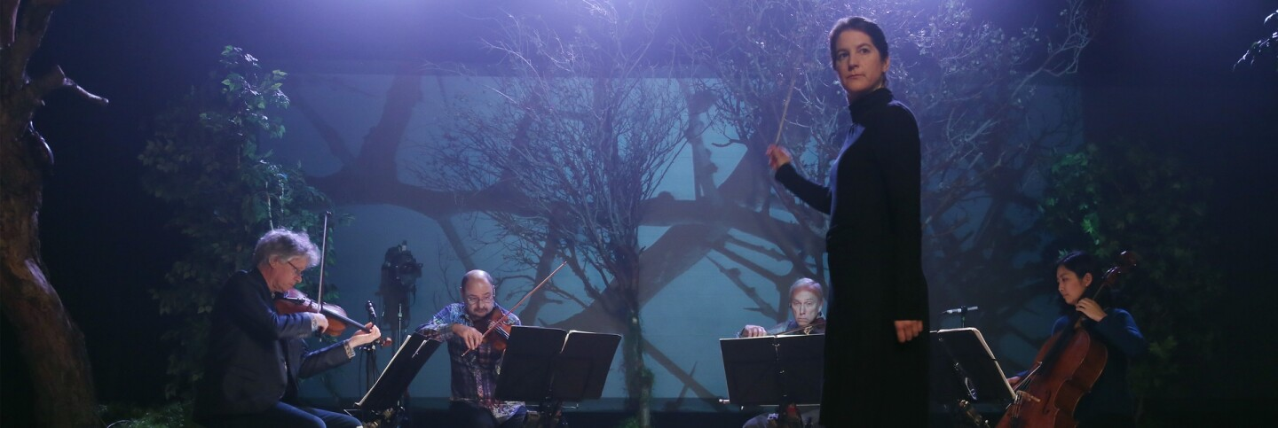 Lisa Bielawa conducts the Kronos Quartet | Remsen Allard