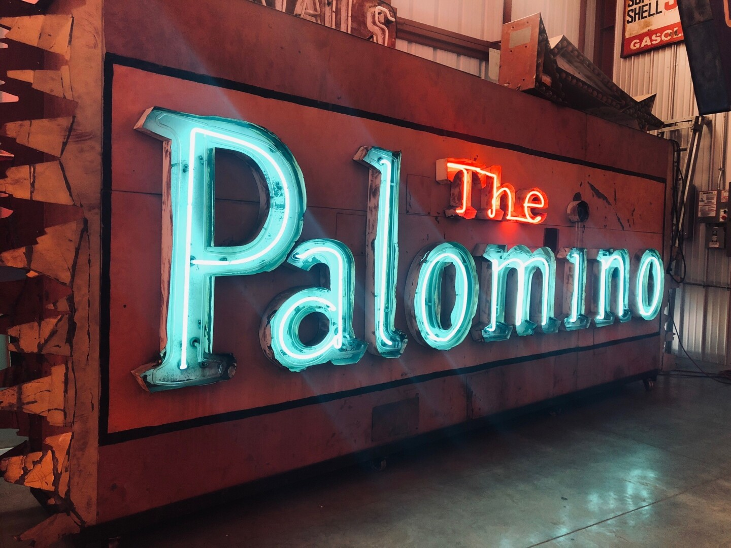 The Palomino's sign on display at the Valley Relics Museum | Courtesy of Valley Relics Museum