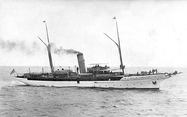 The Oneida was purchased by William Randolph Hearst in 1922 | U.S. Naval Historical Center Photograph/Wikimedia Commons