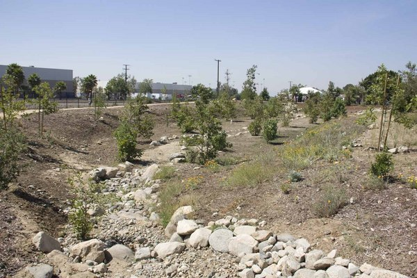 The park's creek bed that parallels the Pacoima Wash | Photo: Carren Jao