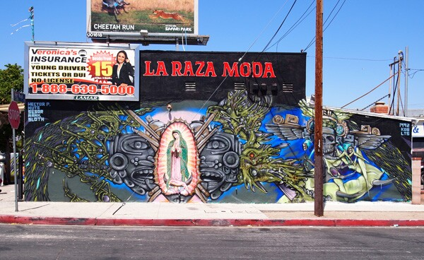 Virgen by Hector Ponce, surrounding art by Mute, completed late 2011, early 2012 I iamsanfernando