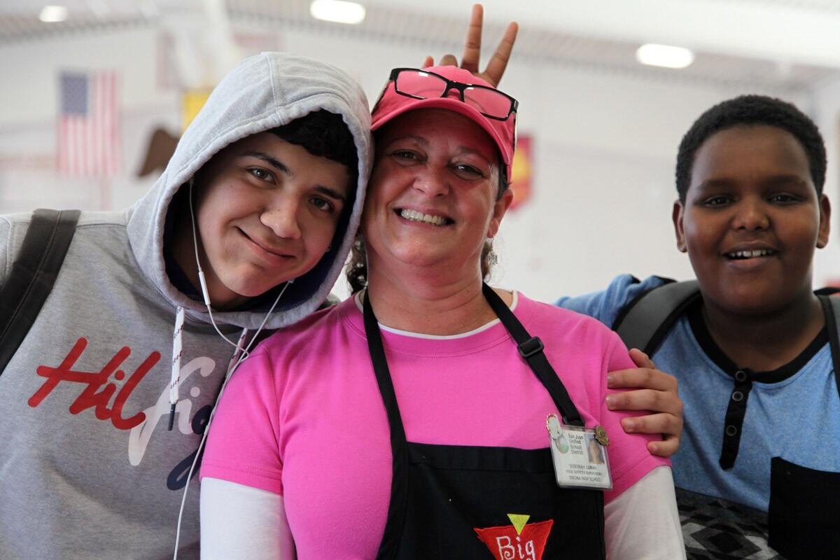 Deborah Luman and Students