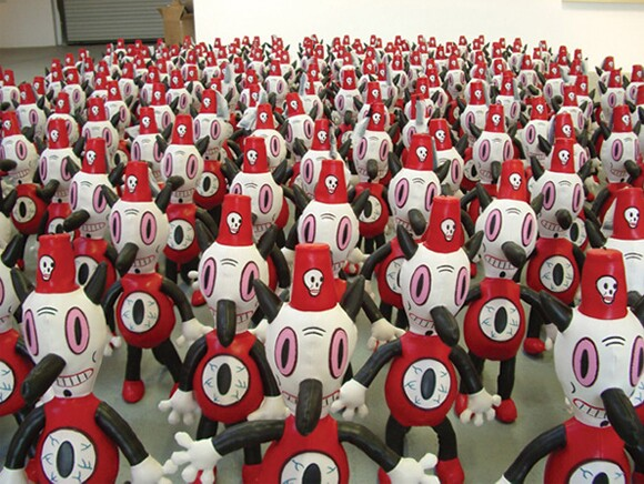 """200 Tobys at """"For the Love of Toby,"""" Billy Shire Fine Arts, Los Angeles, 2005"""
