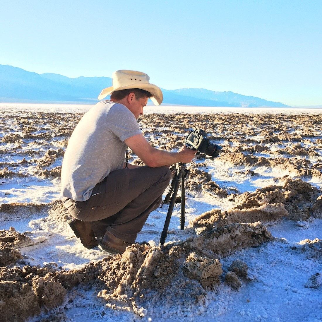 Osceola Refetoff Photographs Salt Formations at Badwater Basin | Photo: Christopher Langley