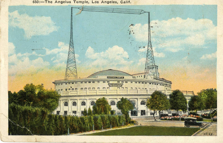 Circa 1926 postcard of Angelus Temple