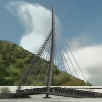 Rendering for the North Atwater Bridge, aka La Kretz Crossing | L.A. River Revitalization Corps