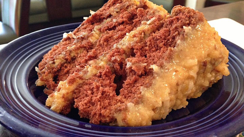 German chocolate cake from Jongewaard's Bake'n Broil | Photo: Christine Chiao