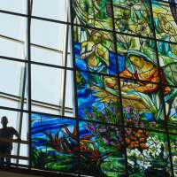 16x9 Judson Studios at the installation of the world's largest stained glass window | Courtesy of Judson Studios