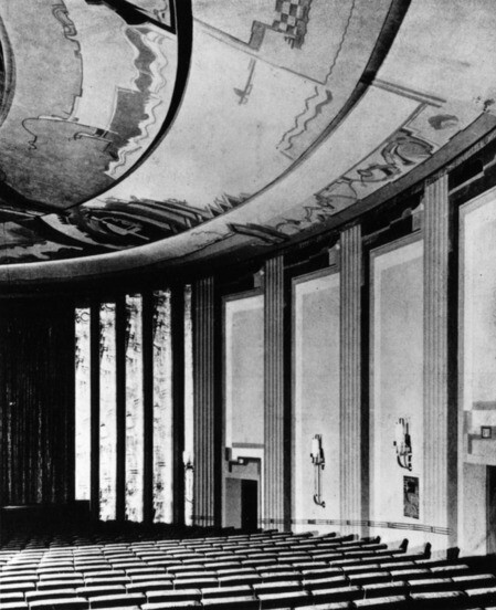 Anthony Heinsbergen's ceiling mural, 1932 | Security Pacific National Bank Collection , courtesy of the Los Angeles Public Library