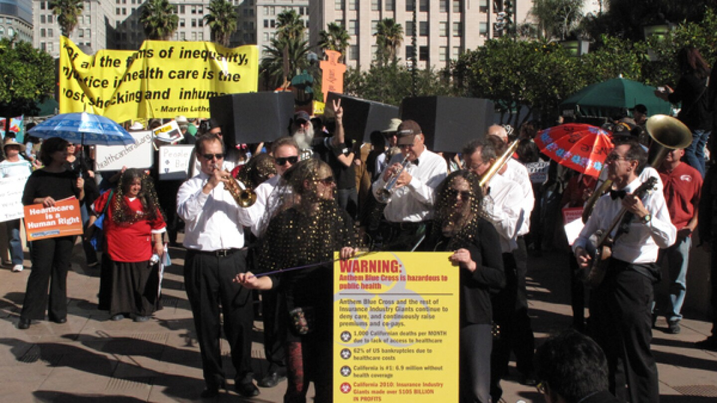 Funeral March to Anthem Blue Cross in Support of SB 810