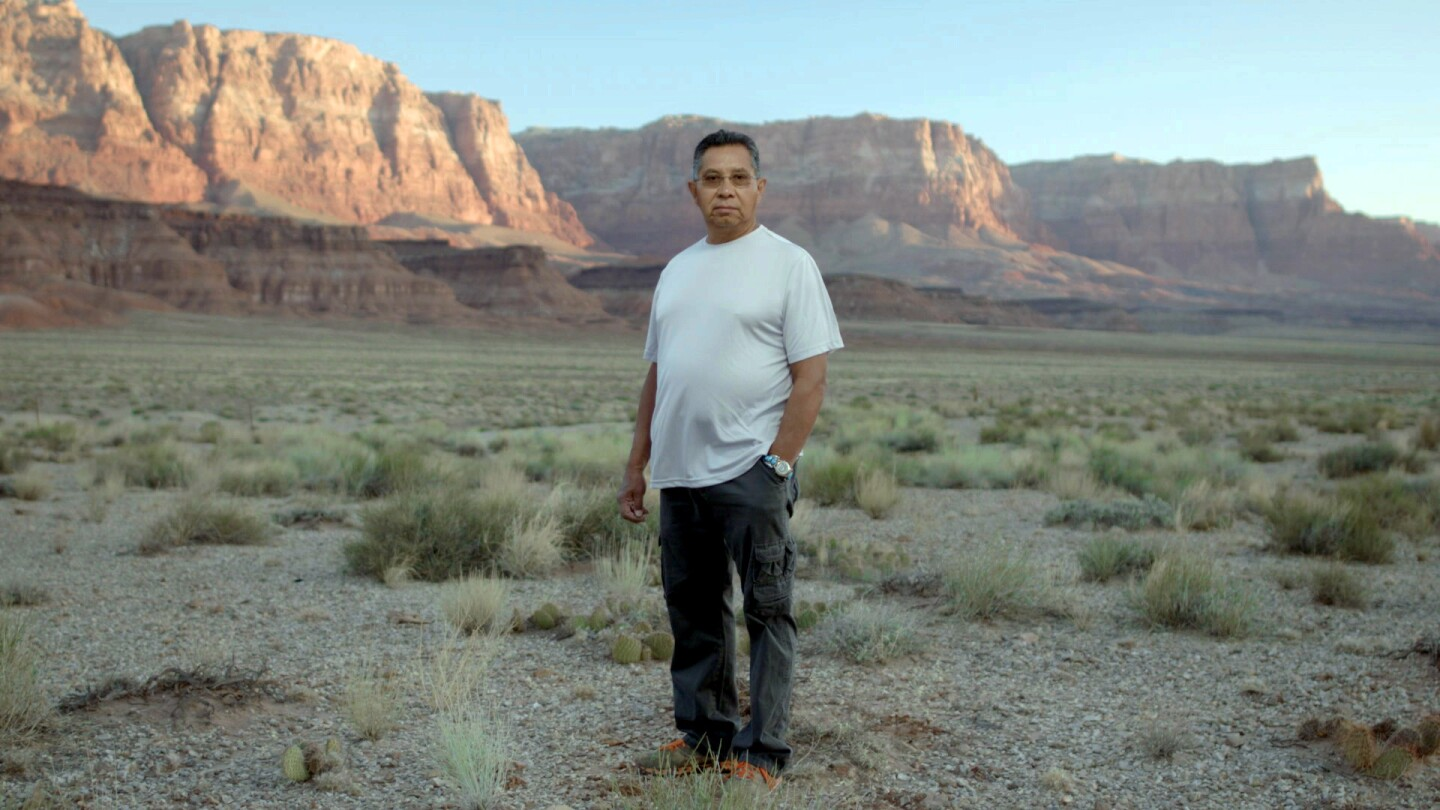 Zuni story keeper Octavius Seowtewa returns to the Grand Canyon, place of his people's emergence from the earth.