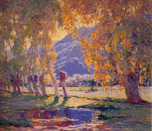 ''The Pool at Sundown'' John Frost