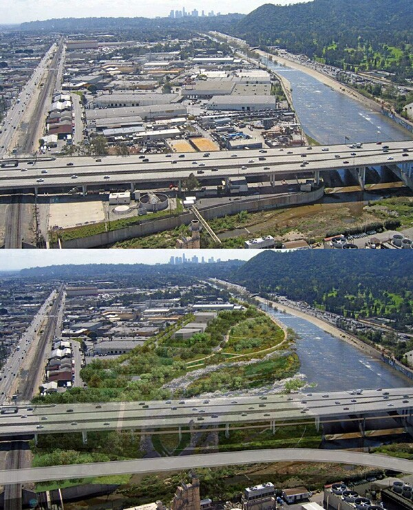 Before and After: Verdugo Wash east of Griffith Park
