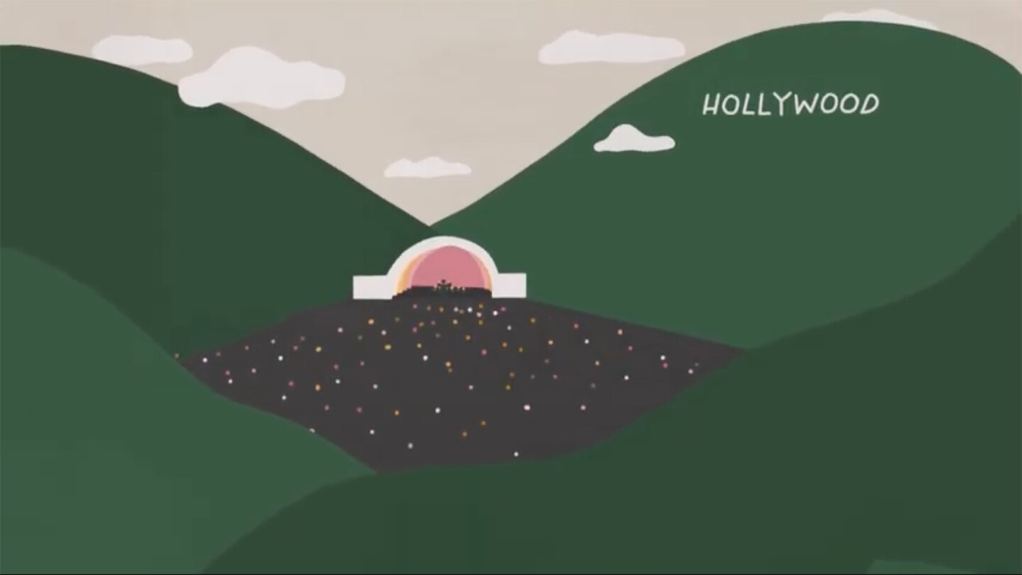"""An illustration of the Hollywood Bowl 