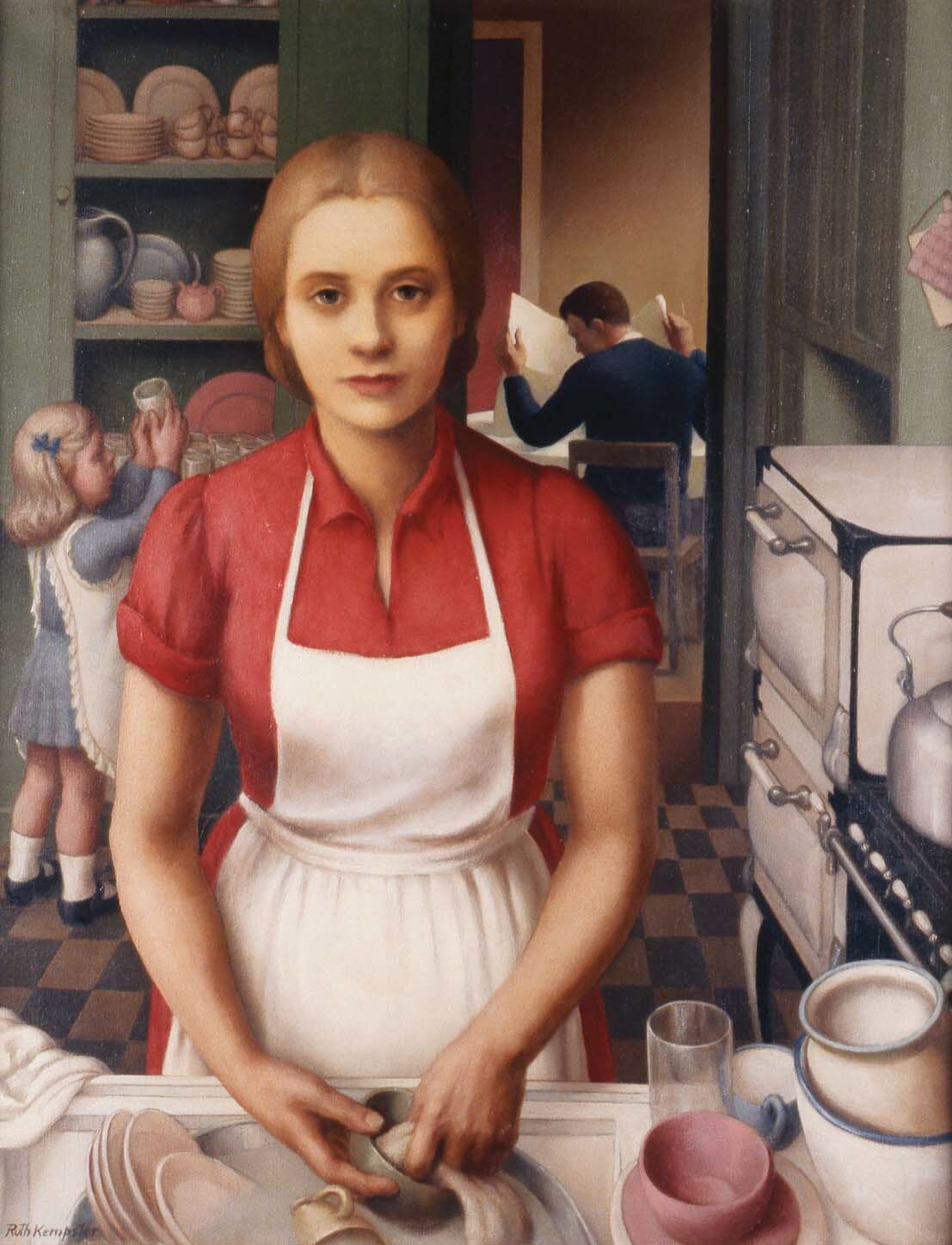 """Ruth Miller Kempster, """"Housewife,"""" c.1935, oil on canvas"""