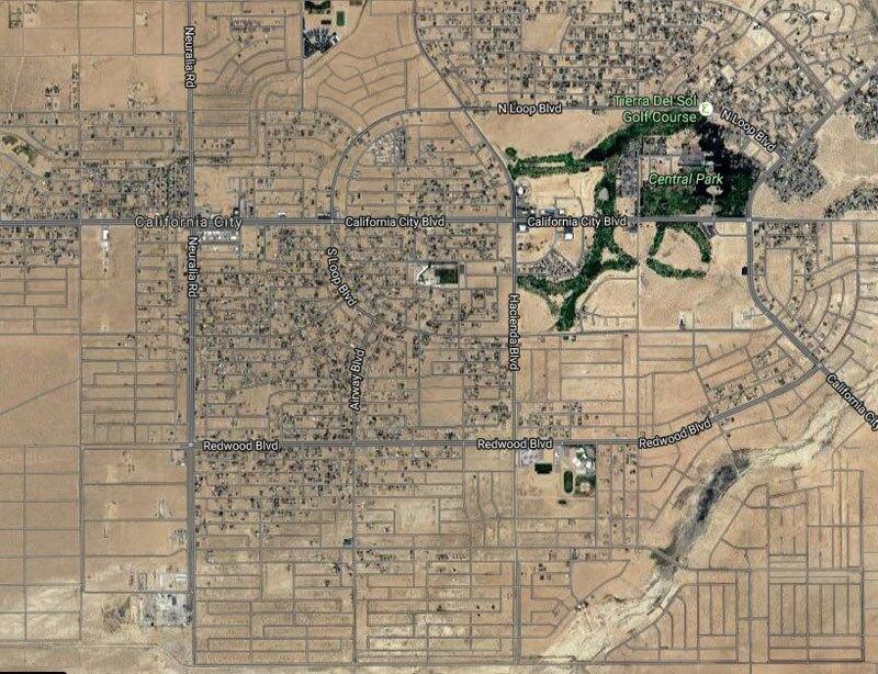 Satellite view of California City
