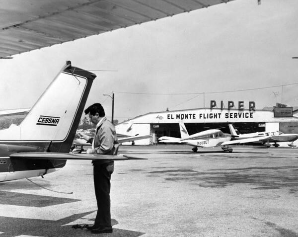 El Monte Airport, 1971 | Photo: Los Angeles Public Library Photo Collection