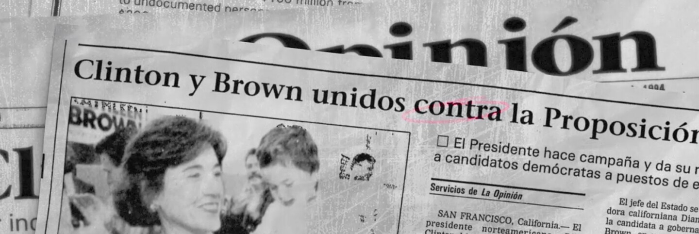 "Pages of La Opinion newspaper | Still from ""187"""
