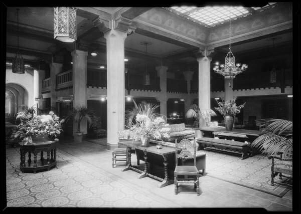 Hotel interior, 1926   Dick Whittington Studio Collection, USC Digital Library