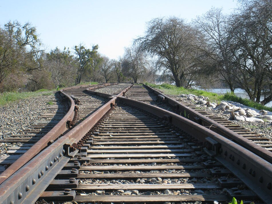 Railroad Tracks and Switch Point