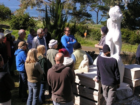 Fort Bragg artist John Fisher teaches a workshop at the California Sculptors Symposium in Cambria.   Courtesy of California Sculptors Symposium