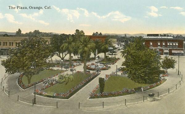 The Orange Plaza, circa 1910. Courtesy of the Orange Public Library.