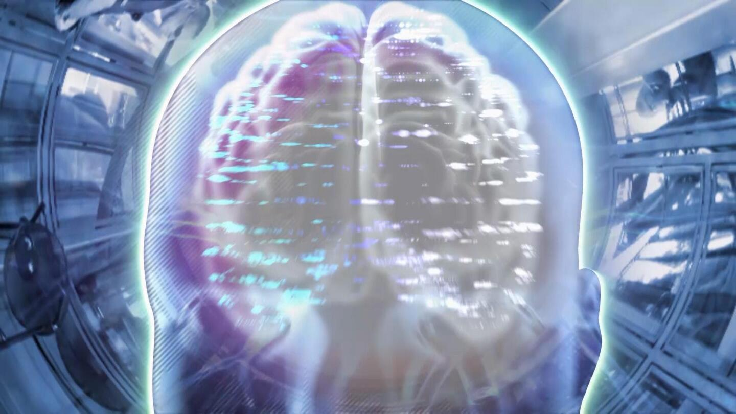 """Graphic of a human brain. 