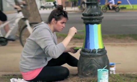 100En1Dia: Light Post Painting