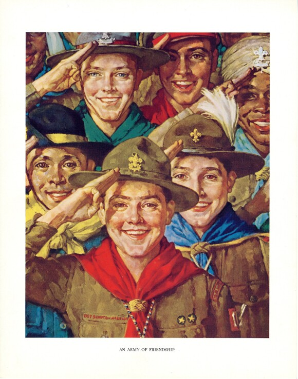 """""""An Army of Friendship,"""" Norman Rockwell. 