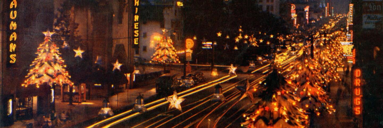 Hollywood Blvd. as Santa Claus Lane