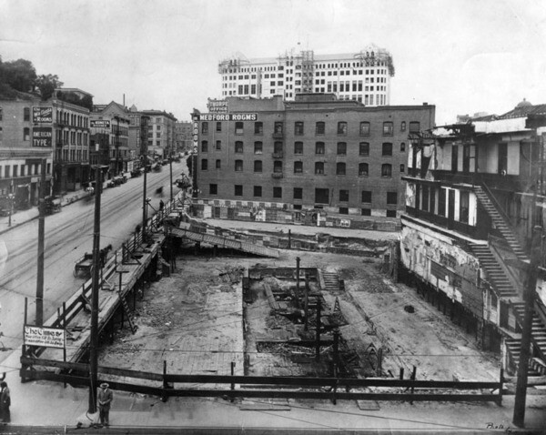 Cleared site after the bombing | Security Pacific National Bank Collection, Los Angeles Public Library