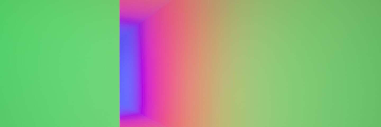 "C. Carlos Cruz-Diez, Chromosaturation, 1965/2017 ""Kinesthesia: Latin American Kinetic Art, 1954-1969,"" Palm Springs Art Museum. | Lance Gerber"