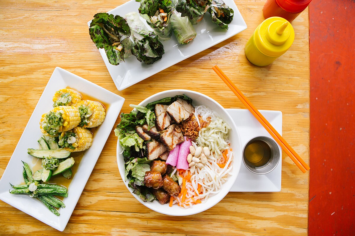 An array of food items from Good Girl Dinette. | Jenny Kim