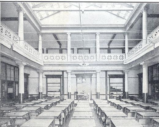 Interior of the Academy Building Auditorium. Courtesy of Occidental College Archives and Special Collections.