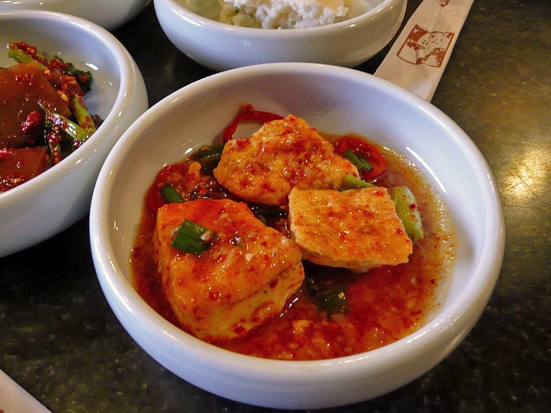 Dubu jorim made with tofu