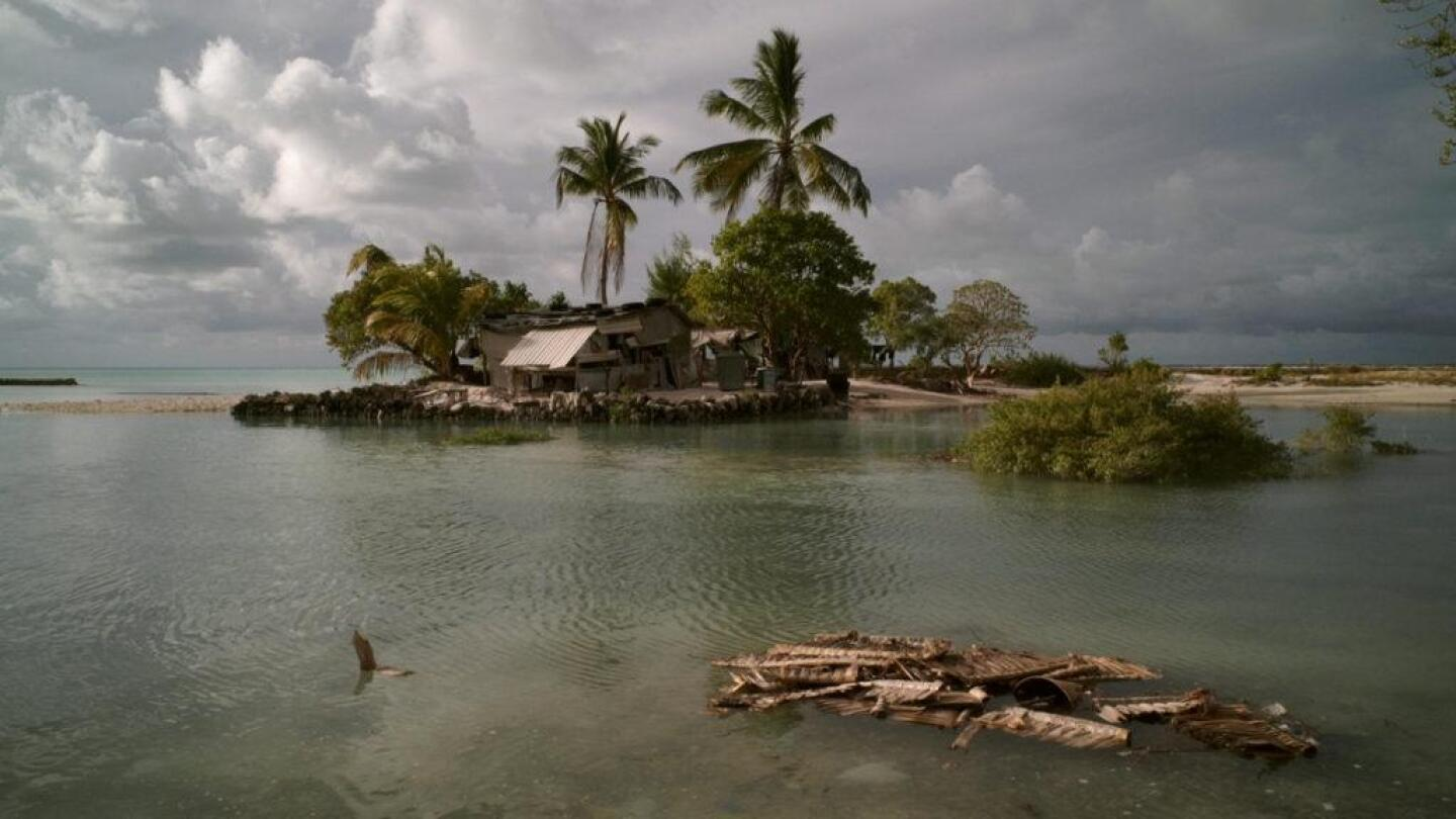 "The Pacific Island nation of Kiribati, one of the most remote places on the planet. | ""Pacific Heartbeat: Anote's Ark"""