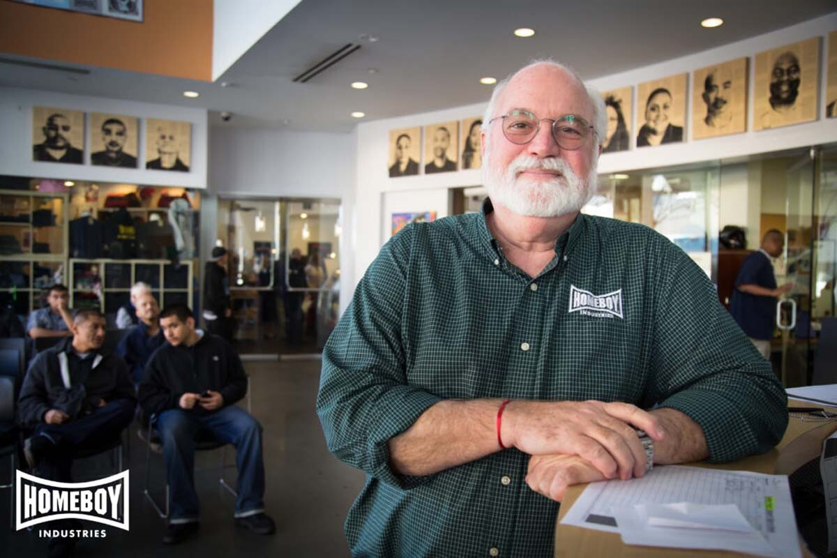 Father Greg Boyle of Homeboy Industries. | Courtesy of Homeboy Industries