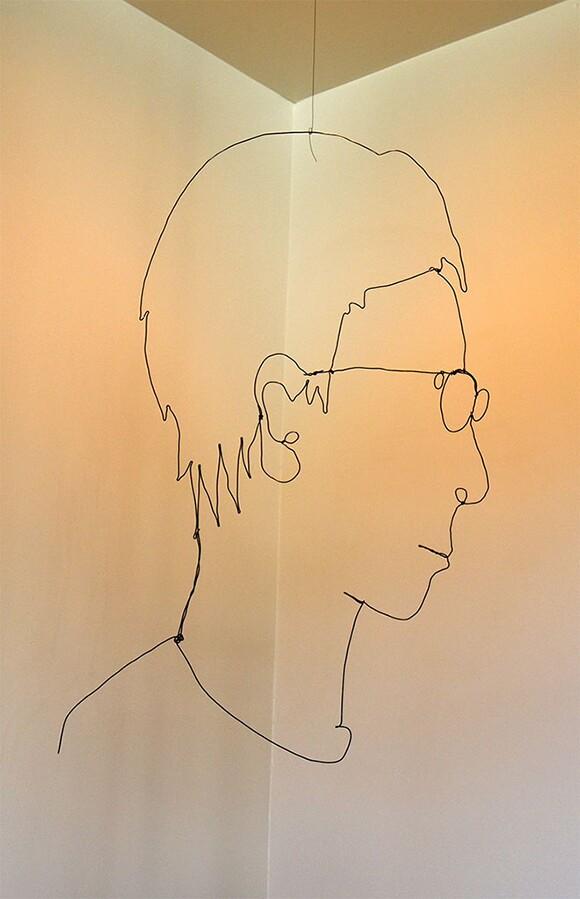 "Mr. Bonzai, ""Wire Portrait 4,"" 2011, 20"" x 12""  Black Wire"