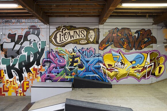 KADY, CLOWNS, PLEK, MEWS, and SPE136 new pieces at Hurley Skate Park