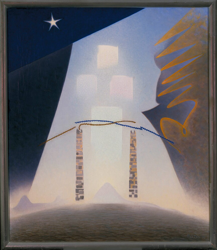 "Agnes Pelton, ""Future,"" 1941. Oil on canvas. 