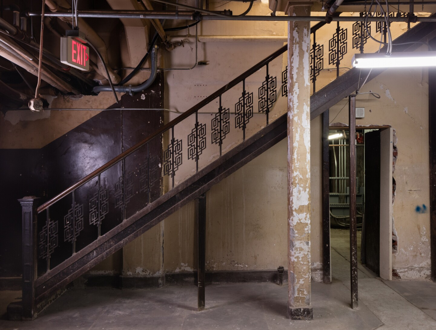 Basement staircase at the Main Museum of Los Angeles