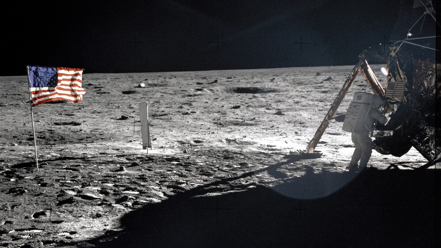 Neil Armstrong on the moon | NASA Summer of Space