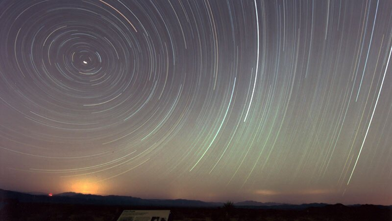 A very long exposure taken in the Riverside County desert outback