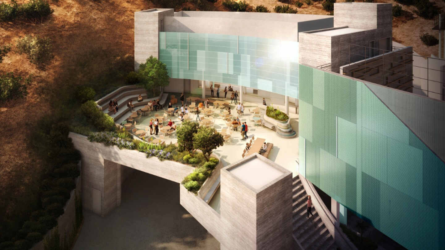 Ford Theatre rendering of JAFT Picnic Terrace by Levin & Associates Architects