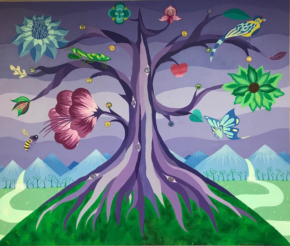 Willowbrook Touchstone Healing Room Mural (2019) by Grace Lynne Haynes.
