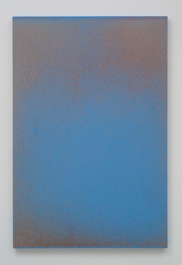 """John Knuth, """"The 101,"""" 2013, Watercolor/Flyspeck on canvas, 72 x 48."""